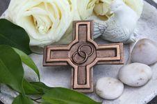Bronze Cross Stock Photo