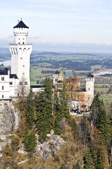 Neuschwanstein Castle In Germany Royalty Free Stock Images