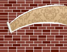 Free Ripped Brick Wall Stock Photography - 18427372