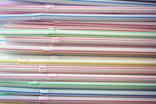 Free Plastic Straws Royalty Free Stock Image - 18427836