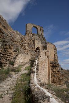 Castle Of Zorita De Los Canes Royalty Free Stock Image