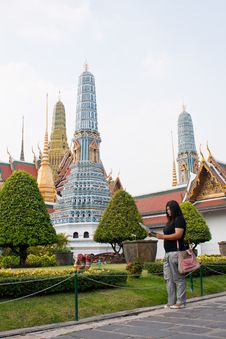 Free Looking To Travel In Thailand Temple. Royalty Free Stock Photography - 18428767