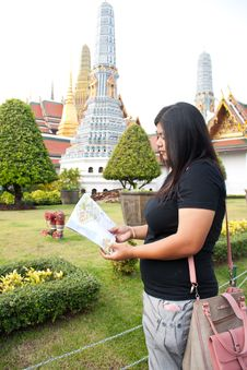 Free Looking To Travel In Thailand Temple. Stock Photography - 18428832