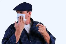 Free Man  Turning Away From Cigarette Stock Photos - 18428843