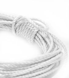 Coiled Rope On White Stock Image