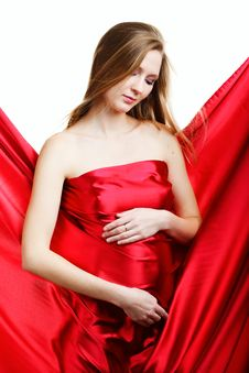 Free A Beautiful Young Pregnant Woman Stock Images - 18429044