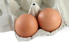 Free Two Organic Eggs Royalty Free Stock Photo - 18429115
