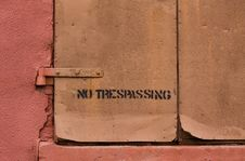 Free No Trespassing Stock Photo - 18429210