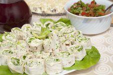 Free Rolls And Salad Stock Image - 18429261