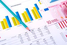 Free Financial Analysis With Charts And Money Stock Images - 18429364
