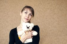 Free Woman With A Toy Bear Stock Photos - 18429523