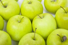 Free Green And Yellow Apples On A White Background Royalty Free Stock Photography - 18429617
