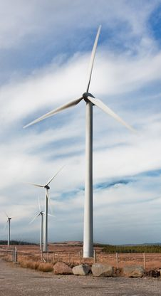 Free Windmills Against Blue Sky Royalty Free Stock Photo - 18429725