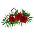 Free Card For The Holiday With Red Rose Stock Photos - 18431113
