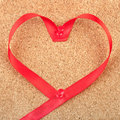 Free Red Heart Shaped Ribbon Stock Images - 18436914
