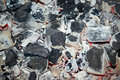 Free Decaying Coals For Cooking And A Background Stock Photography - 18437732