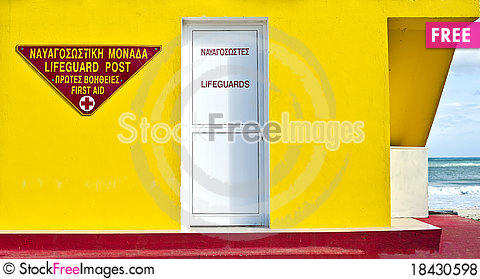 Free Detail Portrait Of Lifeguard Tower Royalty Free Stock Photos - 18430598