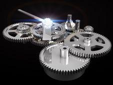 Free Clockwork Chrome Royalty Free Stock Photography - 18430167