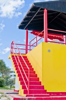 Portraits Of Lifeguard Tower Royalty Free Stock Image