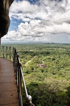 Free Walkway, Sigiriya, Sri Lanka Stock Photography - 18430682