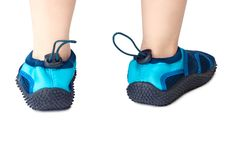 Free Aqua-shoes. Stock Photography - 18431142