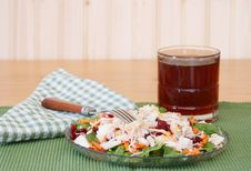 Free Salad And Iced Tea Stock Images - 18431664