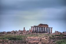 Free HDR Image Of The Selinunte Temples 09 Royalty Free Stock Photo - 18432135