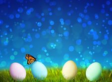Free Colorful Easter Eggs On Green Grass Royalty Free Stock Photo - 18432655