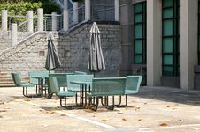 Free Chairs In A Modern Garden Royalty Free Stock Image - 18434296