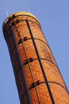 Free Red Brick Chimney Royalty Free Stock Photos - 18434328