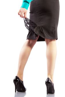 Free Beautiful Businesswoman Legs In Black High Heels Royalty Free Stock Photography - 18434407