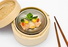 Chinese Steamed Dimsum Scallops Stock Photography