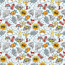 Free Seamless Weather Pattern Stock Photography - 18435552