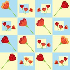 Free Seamless Tulip Pattern Stock Photos - 18435883