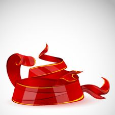 Abstract Decorative Ribbon Royalty Free Stock Photography