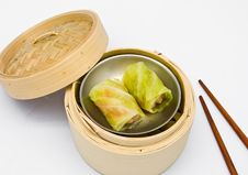 Free Chinese Steamed Dim Sum Cabbage Royalty Free Stock Photos - 18436418