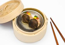 Chinese Steamed Dimsum Mushrooms Stock Images