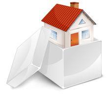 Free House In White Box Royalty Free Stock Photos - 18436598