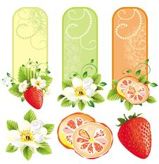 Free Set Of Banners With Fruits Stock Photos - 18437653
