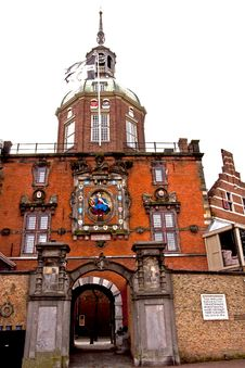 Free Old Gateway In Fortified Dordrecht Stock Photography - 18437672