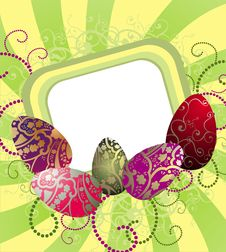 Free Easter Background With Eggs Royalty Free Stock Photo - 18437685