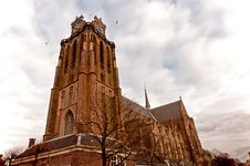 Old Church In Fortified Dordrecht Royalty Free Stock Image