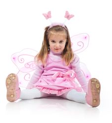 Free Little Girl In Fairy Costume Stock Photography - 18437832