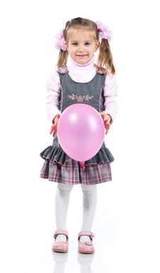 Free Pretty Little Girl With Balloon Stock Photography - 18438762