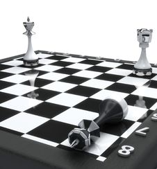 Free King Chess Mate Royalty Free Stock Photo - 18439015