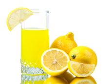 Fresh Lemon Juice Stock Photo