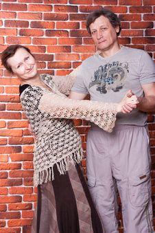 Happy Seniors Couple In Love Stock Photo