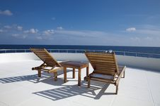 Free Deck Chair On Cruising Ship Royalty Free Stock Photography - 18439497