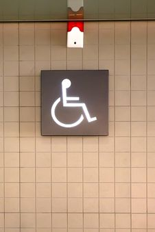 Free WC Disabled Tag Stock Photo - 18439520