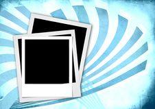 Free Instant Photo Frame On Vintage Background Stock Photos - 18439543